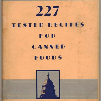 "1952 - ""Canned Foods"" Recipe Booklet - Books"