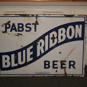 Vintage Ceramic Pabst Blue Ribbon sign