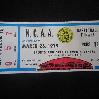 1979 Original NCAA Finals College Basketball Ticket Stub MAGIC VS BIRD Salt Lake City UT