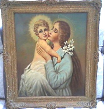 "A Likely Candidate As The Painter of My ""Madonna and Child"" /Giovan(n)i Maresca (1850-1920)  - Visual Art"