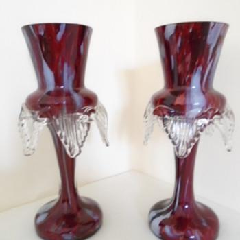 Bohemian Welz Vases
