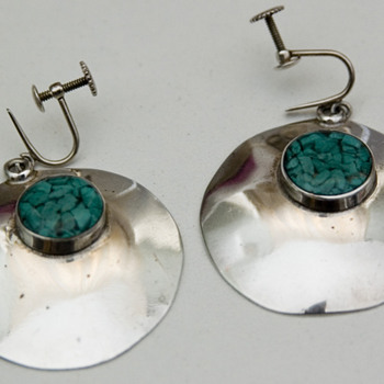 1960's/1970's Sterling Silver Modernist Earrings