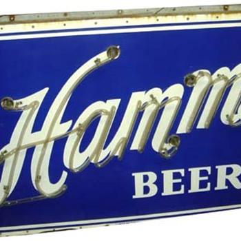 Hamms outdoor 2 sided porcelain neon