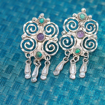 925 Earrings and Bracelet - Fine Jewelry