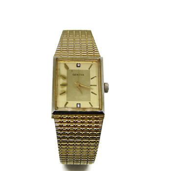 Gold and Diamond Geneva Watch