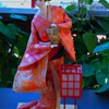 Geisha doll rescue; andon lamp dancer with uchiwa fan