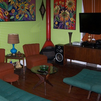 My Vintage Mid Century Furniture Living Room Paintings Bro. Mel Meyers