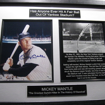 Mickey Mantle . . . Signed Descriptive Photo