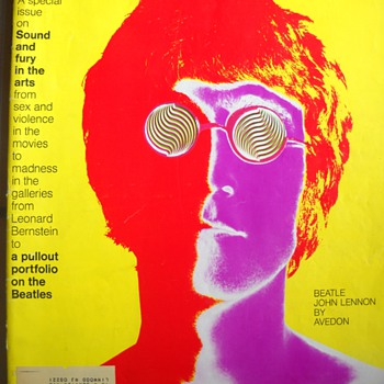 January 9, 1968 Look magazine Avedon cover - Music