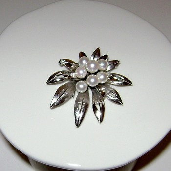 Japanese Sterling Silver Brooch / Pendant  - Fine Jewelry