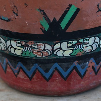 Old Hand-painted Bauer Water Cooler - Art Pottery