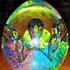 Glass Paperweight....Love these colors in this one!