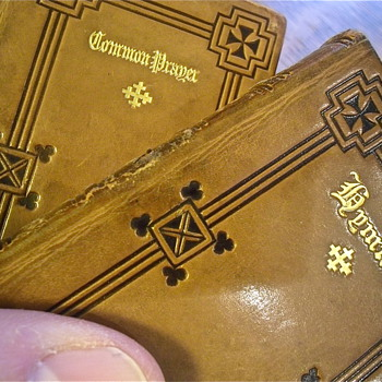 19th Century All Leather Prayer and Hymn Books! - Books