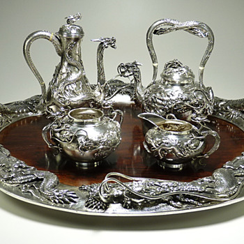 Major Meiji Teaset Restored to its Original Beauty - Sterling Silver