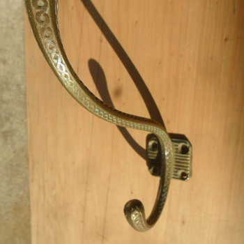Brass banding style coat hook