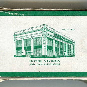 Old Playing Cards…..Hoyne Savings & Loan, Chicago Area - Cards