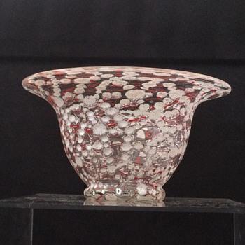 Loetz Ausführung C Red Thread Deco Bowl  - Art Nouveau