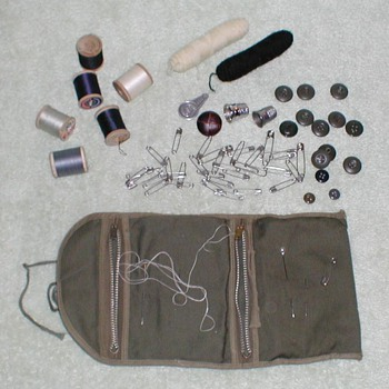 WWII Military Sewing Kit - Military and Wartime