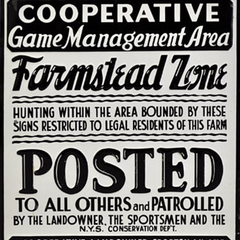 NY State Farmstead Zone Tin Sign