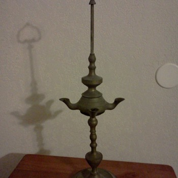 Brass Whale Oil Lamp? - Lamps