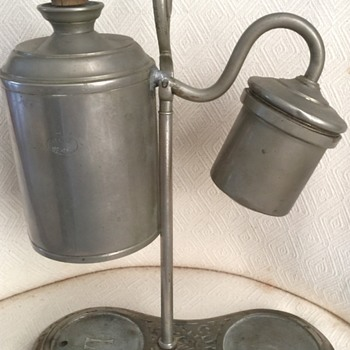 German student oil lamp