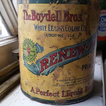 Paint can 1892 Detroit Mi. - Bottles