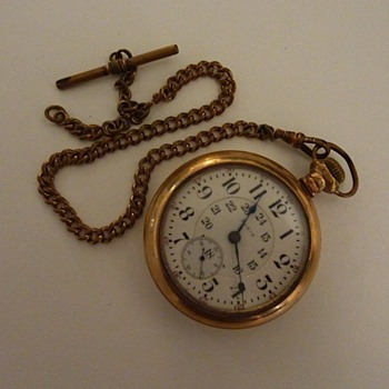 Elgin Pocket Watch with chain (original fob missing)