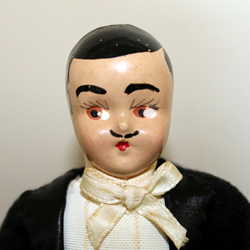 1940's composition groom? Rhett Butler? magician? doll - Dolls