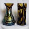 Kralik Burgundy & Gold Vases