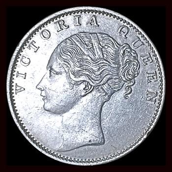 "1840 VICTORIA BRITISH EAST COIN ""INDIAN HEAD"" RUPEE MIND HACKER  - World Coins"