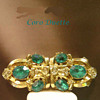 Awesome Aqua Rhinestones 1940&#039;s Coro Duette All signed 