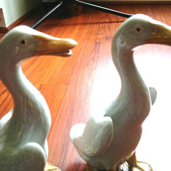 Pair of Porcelain   Ducks - Asian