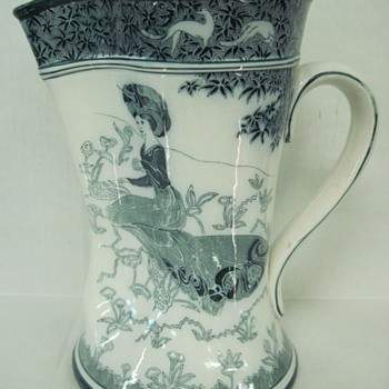 Buffalo Pottery Pitcher - Art Pottery