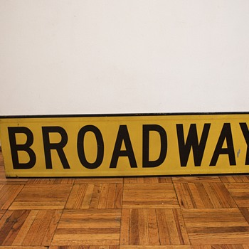 1960s New York Street Sign - Broadway