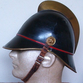 1915 - 192o's German  Fire Brigade helmet from Stuttgart Germany - Firefighting