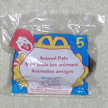 1997 McDonald's Promo Toy - Animal Pal - Animals