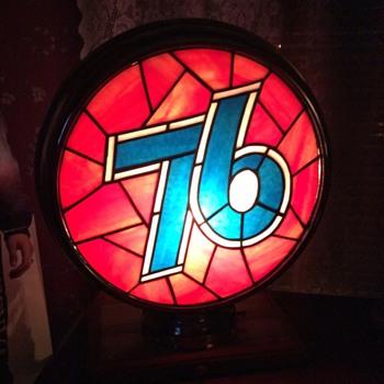 Fantasy Union 76 leaded gas globe lenses in a metal body