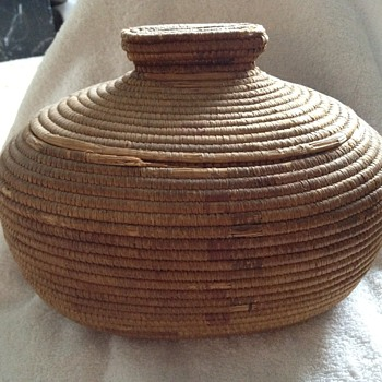 Antique Eskimo (?) Basket 1920's? - Native American