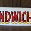 1940's Amusement Park Sandwich Sign