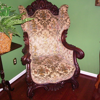 My grandma's chair. Can you tell me anything about style or age? - Furniture