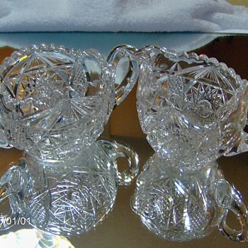 Sugar and Creamer  Need - Pattern and Maker - Glassware