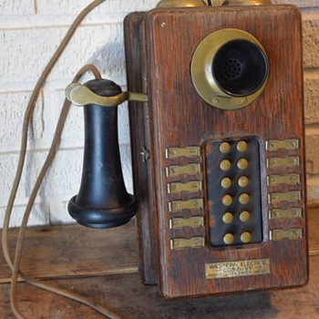Western Electric Intercom Brass or Silver? - Telephones