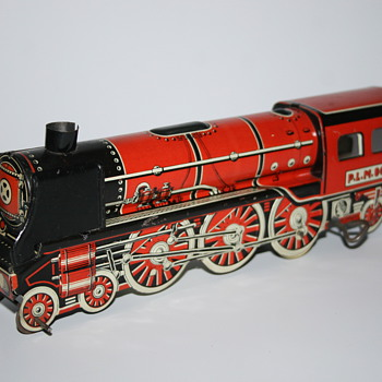 locomotive train memo wind up toy