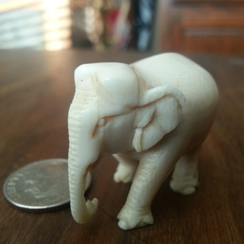 Ivory Elephant - Folk Art
