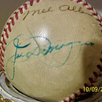 Joe Dimaggio and Mel Allen signed baseball - Baseball