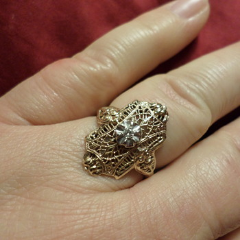 10k filigree and diamond ring - Fine Jewelry