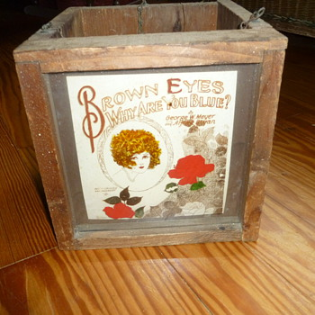Antique Sheet Music Advertising Box - Music