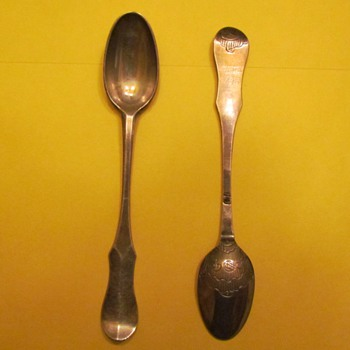 Unusual silver teaspoons