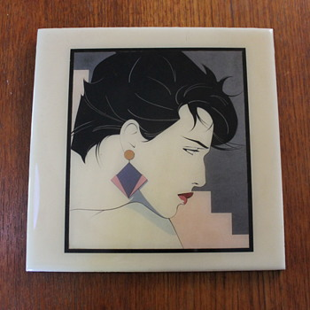 Decorative tile - Patrick Nagel - Art Pottery