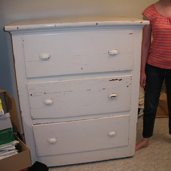 large wood dresser - Furniture